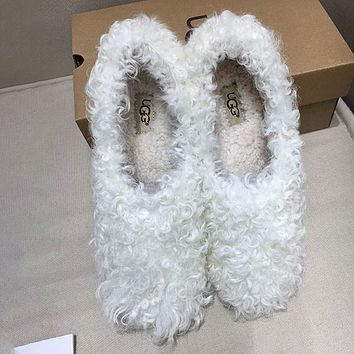 UGG Women Fashion Casual Poodle Flats Moccasin-Gommino Shoes