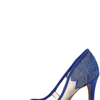 Jessica Simpson Camba Cobalt Blue Lace Pumps