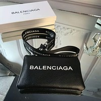 Balenciaga Stylish New Women Men Zipper Leather Wallet Coin Purse Handbag I-AGG-CZDL