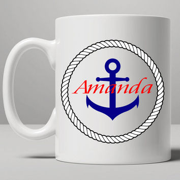 anchor Mug, Tea Mug, Coffee Mug