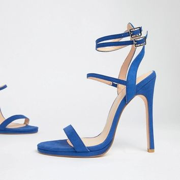 Coco Wren Platform Heeled Sandals at asos.com