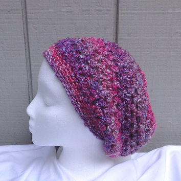 Slouchy beanie - Crochet slouchy hat - Womens hats - Teens accessories - Teens slouchy hat