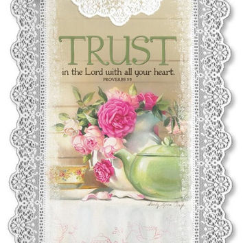 Heritage Lace Inspirational Lace Wall Hangings Trust in the Lord