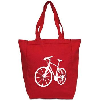 Bicycle Tote Bag - Custom Canvas Carry All Tote
