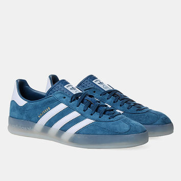Adidas Originals Gazelle Indoor Shoes - Tribe Blue/running White at Urban Industry
