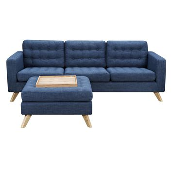 Mina Sofa Set Stone Blue