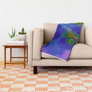 Cell Divison Throw Blanket by DuckyB (Brandi)