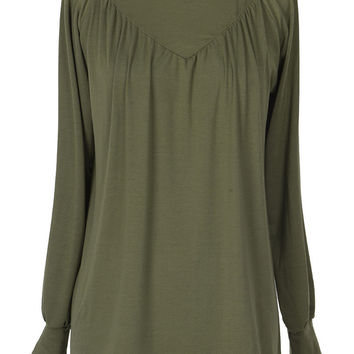 Cupshe Way To Be Warm Pleated Top