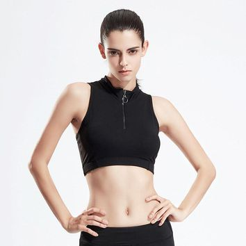 Women Seamless Sporting Fitness Tank Crop Top Sexy Back Shockproof Exercise Bra Female Quick Dry Push Up Workout Top Vest