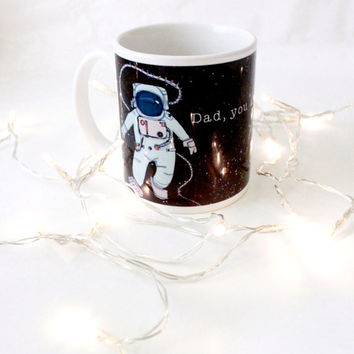 Dad is One in a Septillion Fathers Day Coffee Mug Space Science Nerd