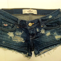 SALE Hollister Hand Distressed Cut Off Shorts Size 1