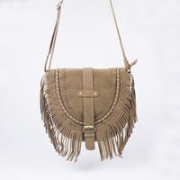 Faux Suede Cross Body Bag Women Fringed  Handbags Vintage Women Messenger Bags High Quality Tassel Saddle Bag Hobo Crossbody