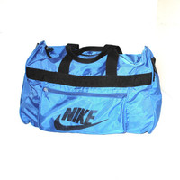 90s vintage NIKE duffel bag 1990s old skool blue nike gym bag