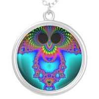 Fractowl Necklace from Zazzle.com
