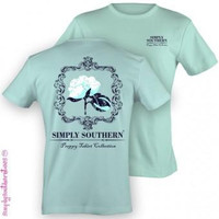 Simply Southern Funny Cotton Logo Sweet Girlie Bright T Shirt