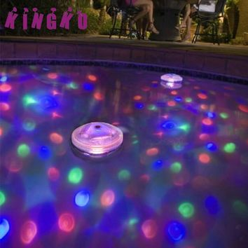 Kingko Underwater Light Floating Underwater LED Disco Light Glow Show Swimming Pool Hot Tub Spa Lamp L61220 drop ship