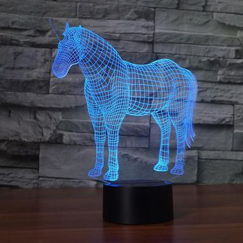 Unicorn 3D LED Lamp