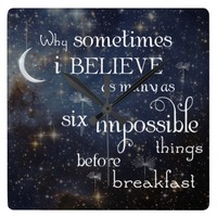Impossible Things Stars Clock