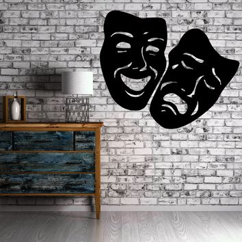 Masks Comedy and Tragedy Theater Decor Wall mural vinyl Decal sticker Unique Gift M309