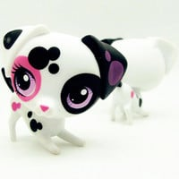 1pc LPS cute toys Lovely Pet shop animal spotted Dalmatian Dog #3217 action figure doll
