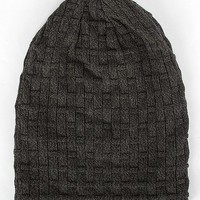 Buckle Black Reversible Slouch Beanie