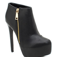 Ravish-83 Zipped Up Edgie Bootie