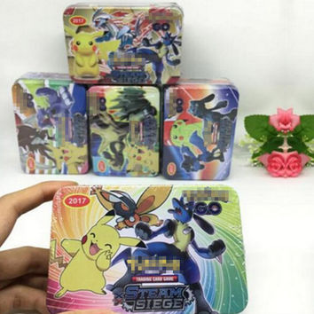 2017 New 42PCS Box Pikaballs Cards Game English Anime Card Toy For Children Birthday Gift Funny Collection Toy