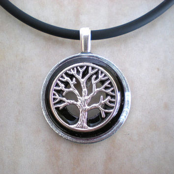Tree of Life Necklace: Black - Tree Jewelry - Men's Necklace - Men's Jewelry - Wiccan Jewelry - Unique Jewelry - Celtic Jewelry