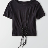 AEO Corset T-Shirt, True Black