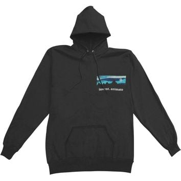Invent, Animate Men's  Mountain Hooded Sweatshirt Black
