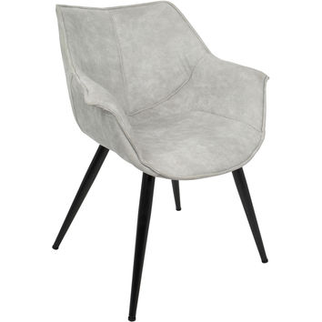 Wrangler Contemporary Accent Chair, Light Grey (Set of 2)