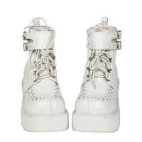 Cosplay Punk Women White Boots Thick Shoes Custom Size from HIMI'Store