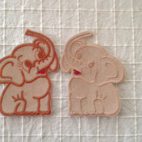 Elephant iron on patch Elephant iron on applique Embroidered patch Embroidered elephant applique Kids patches Cartoon embroidery