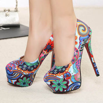 best floral high heel shoes products on wanelo