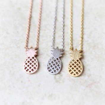 Dainty Pineapple Necklaces