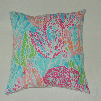Lilly Pulitzer Pillow-Let's Cha Cha