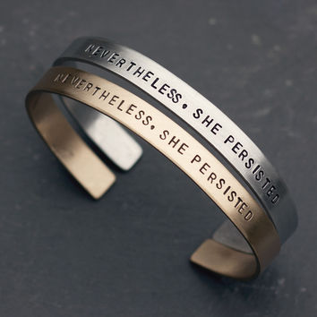 """Nevertheless, She Persisted"" Bracelet"
