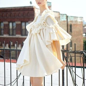 Haute Boho Ruffle Baby Doll Dress