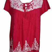 Mogul Interior Womens Red Boho Batik Printed Tank Top Gypsy Chic Blouse S: Amazon.ca: Clothing & Accessories