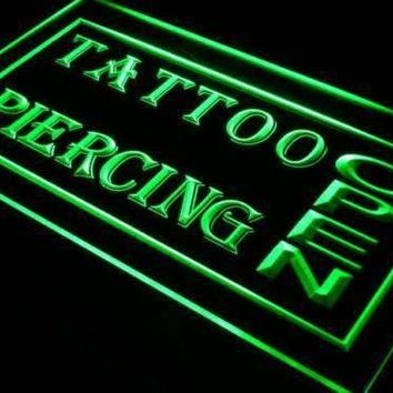 Open Tattoo Piercing Neon Sign (LED)