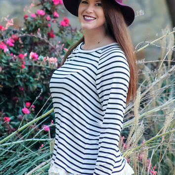 Stay in the Lines Striped Top
