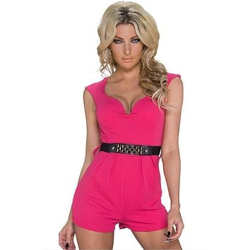 Classy Disco Pink Jumpsuit with Waistband