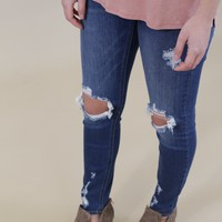 Mica Low Rise Jeans, Medium Dark