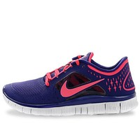 Nike Women's Free Run+ 3 - Night Blue / Fire Berry-Pure Platinum-Fire Berry, 7 B US