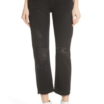 FRAME Le Original Released Hem High Waist Jeans (Grey River) | Nordstrom