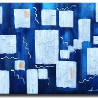Ice Blue Canvas Wall Art