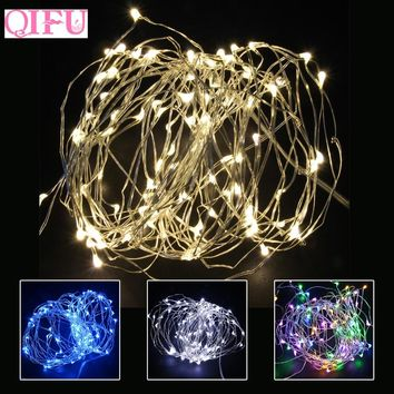QIFU Merry Christmas Light Led Copper Wire String Chrisrmas Tree Decorations For Home Navidad Noel Happy New Year 2019