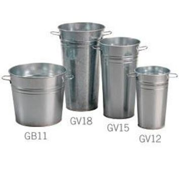 Galvanized Buckets - 15.75¡± Tall - 6ct 101264