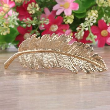 CREYONJ 1 pcs Fashion Metal Leaf Hair Clip Hairpins Wedding mariage Hair pin Hair Jewelry Accessories Sale