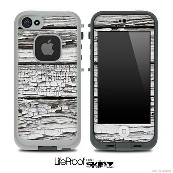 White Flaked Wood Skin for the iPhone 5 or 4/4s LifeProof Case